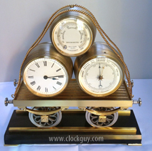 "French ""Industrial"" Train Clock/Baro Set ~ Antique Clocks Guy"