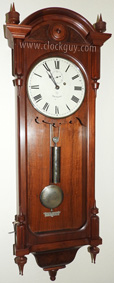 Seth Thomas Regulator No. 6 in Tiger Oak ~ Antique Clocks Guy