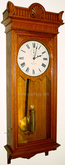 Seth Thomas Regulator No. 9 in Oak ~ Antique Clocks Guy