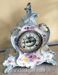 "Ansonia "" La Nord"" Porcelain, c.1904 - Antique Clocks Guy"