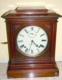 "Seth Thomas ""Hotel"" Shelf Clock in Walnut, c.1888 ~ Antique Clocks Guy"