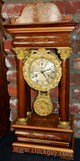 French 21-Day Portico w/Seconds Bit ~ Antique Clocks Guy