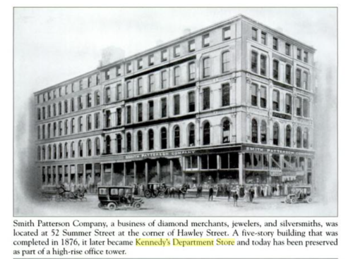 Smith Patterson Building - Corner Summer & Hawley Sts. Boston ~ Antique Clocks Guy