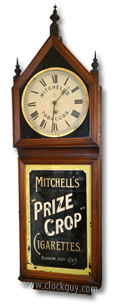 "Mitchell's ""Prize Crop"" English Advertising Clock ~ Antique Clocks Guy"