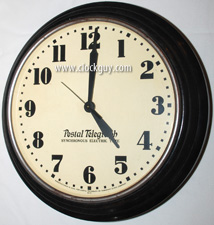 "Extra Large (20"") British Postal Telegraph Synchronous Electric Time Clock, c.1920 ~ Antique Clocks Guy"