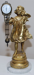 """Gilded Girl"" Swinging Arm Clock ~ Antique Clocks Guy"