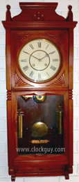 "Seth Thomas "" Flora"" in Cherry, c.Mar, 1884   ~ Antique Clocks Guy"