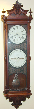 Ithaca Regulator No. 1 in Walnut ~ Antique Clocks Guy