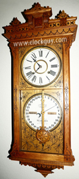 "No. 5 1/2 Ithaca ""Belgrade""  Hanging Calendar in Ash ~ Antique Clocks Guy"