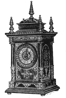 "View the original catalogue drawing of an Ansonia ""Cabinet Antique"" ~ Antique Clocks Guy"