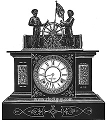 "Original Catalogue Drawing: Ansonia ""Helmsman"" Industrial/Mechanical Clock ~ Antique Clocks Guy"