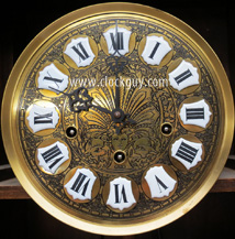 "A beautiful etched brass dial on an early ""La Mesa"" model ~ Antique Clocks Guy"