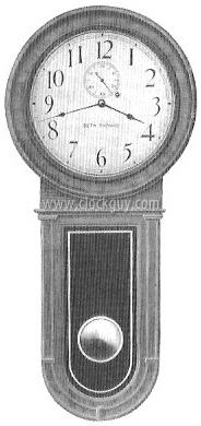 Original Catalogue Drawing - Seth Thomas Regularot No.1 with Round Bottom in Oak ~ Antique Clocks Guy